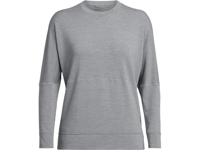 Icebreaker Momentum Koszulka z długim rękawem Kobiety, fossil